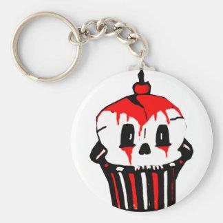 evilicious gotische cupcake basic ronde button sleutelhanger