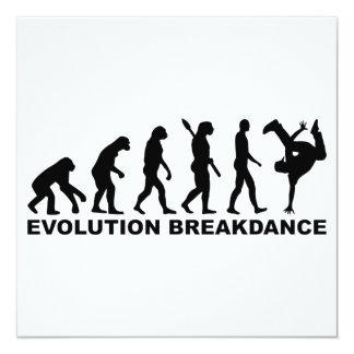 Evolutie Breakdance 13,3x13,3 Vierkante Uitnodiging Kaart