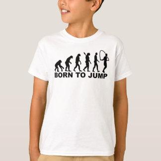 Evolutie geboren aan Springtouw T Shirt