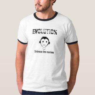 EVOLUTIE: Omhels de aap T Shirt
