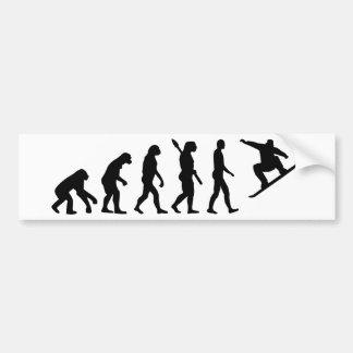 Evolutie Snowboarding Snowboard Bumpersticker