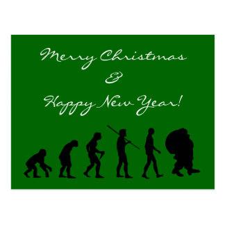 Evolutie van de Kerstman Briefkaart