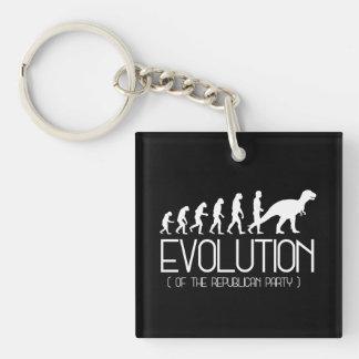 Evolutie van de Republikeinse Partij - - Sleutelhanger