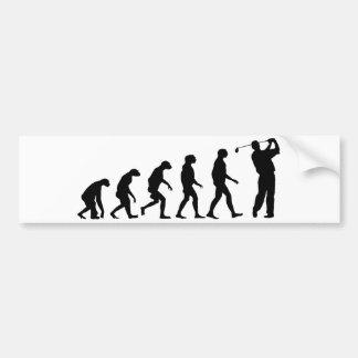 Evolutie van Golf Bumpersticker