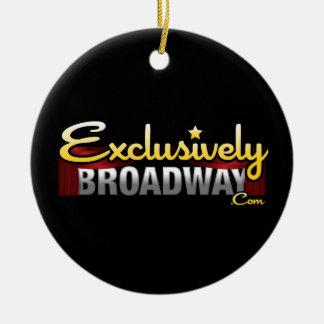 ExclusivelyBroadway.com Rond Keramisch Ornament