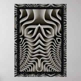 EXO-Skeleton 3D Optische illusie Poster