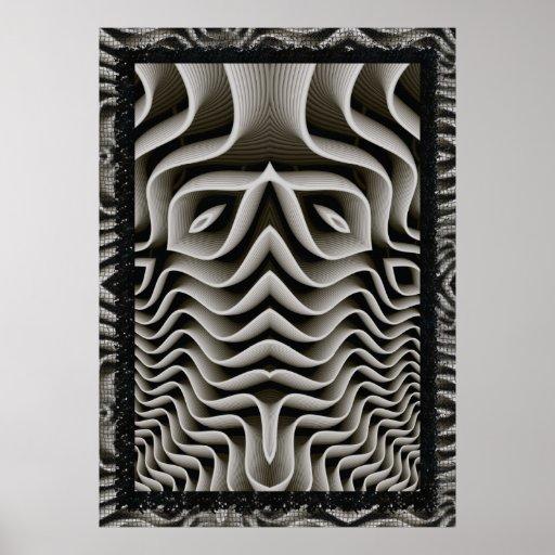 EXO-Skeleton 3D Optische illusie Plaat