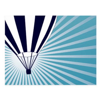 exorbitante hete luchtballon briefkaart