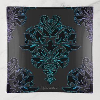 Exotisch Elektrisch Zwart BloemenTrinket van het Sierschaaltjes