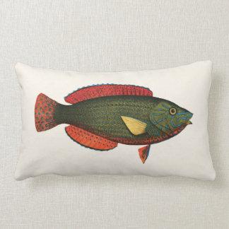 Exotische Tropische Vissen in Groen en Rood Lumbar Kussen