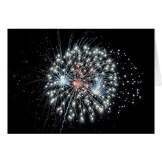 Explosie in de lucht 1 van het vuurwerk briefkaarten 0