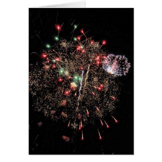 Explosie in de lucht 2 van het vuurwerk notitiekaart