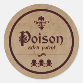 Extra Machtig Vergift | Etiket van Halloween Ronde Sticker