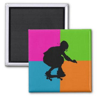 extreme sporten - skateboard vierkante magneet