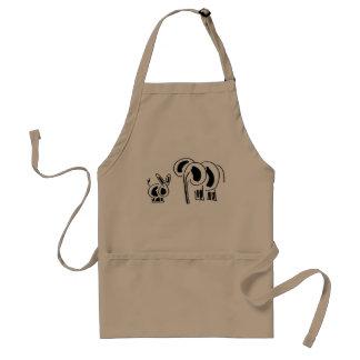 ezel en olifantsvrienden standaard schort