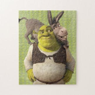 Ezel en Shrek Puzzel