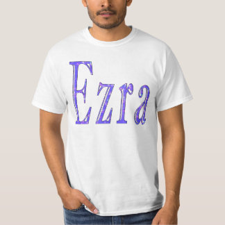 Ezra, _Name, _Logo, de Witte T-shirt van _Men