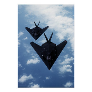 F117A tijdens de vlucht Poster