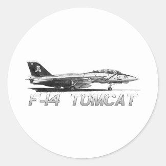 F14 Tomcat vf-103 heel Rogers - tekening Ronde Sticker