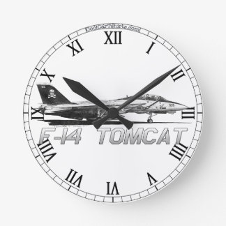 F14 Tomcat vf-103 heel Rogers - tekeningsKlok Ronde Klok