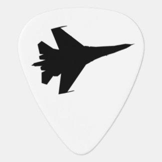 F16 de Oogst van de Gitaar van het Silhouet Gitaar Plectrum
