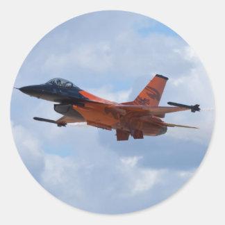F16 het Vechten Valk Ronde Stickers