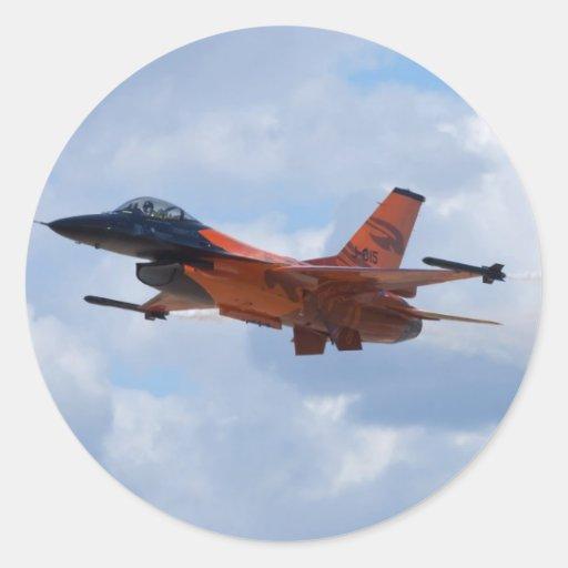 F16 het Vechten Valk Ronde Sticker