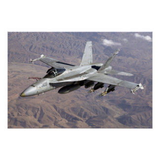 F18 over Afghanistan Poster