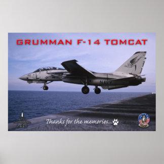 F-14 het Poster van Tomcat