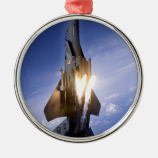 F-15 straal lanceringsraket zilverkleurig rond ornament
