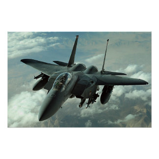 F-15E staking Eagle Poster