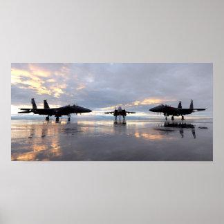 F-15SG en F-15E de Luchtmacht van Eagles van Poster
