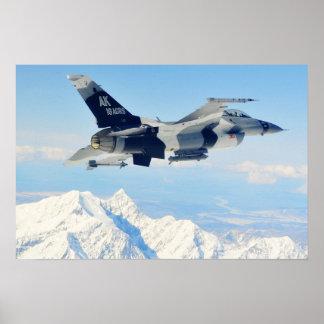 F-16 de Vechtende Aanvaller van de Valk Poster
