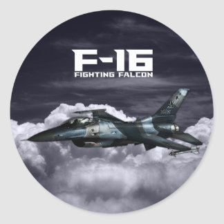 F-16 het Vechten Valk Ronde Stickers