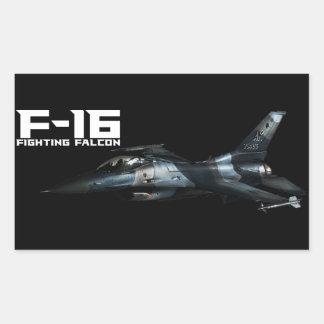 F-16 het Vechten Valk Rechthoekvormige Sticker