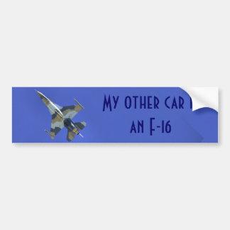 F-16 Mijn Andere het Vechten van de Auto Bumpersticker
