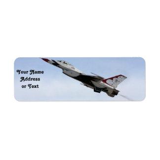 F-16 Thunderbird tijdens de vlucht Etiket