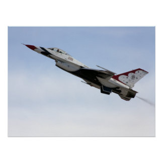 F-16 Thunderbird tijdens de vlucht Poster