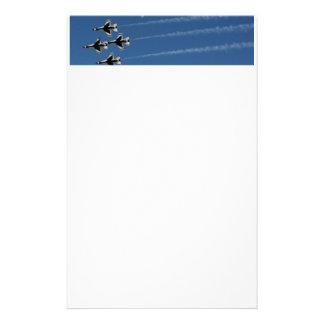 F-16 Thunderbirds de Vorming van de Diamant Briefpapier