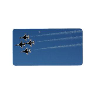 F-16 Thunderbirds de Vorming van de Diamant Etiket