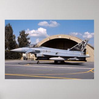 F-2000A Duitse Luchtmacht 3029 van de Tyfoon Poster