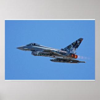 F-2000A Duitse Luchtmacht 3029 van de Tyfoon start Poster