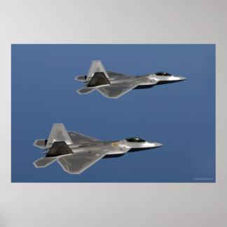 F-22 de Vlucht van de roofvogel Poster