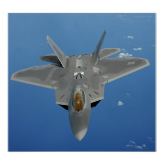 F-22 roofvogel over de Stille Oceaan Poster