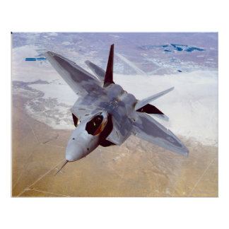 F-22 roofvogel poster