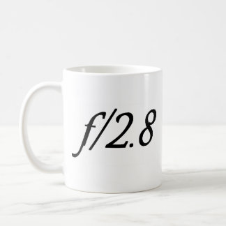 f/2.8 koffiemok