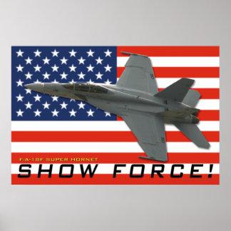 F/A-18 toon het Poster van de Kracht