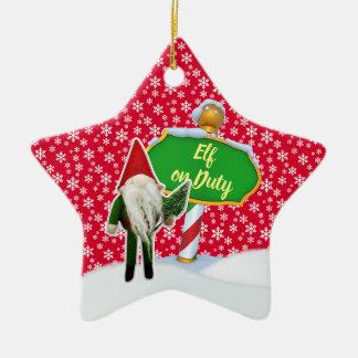 F-D Elf op de Ornamenten 53086A17 van Kerstmis van