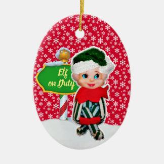 F-D Elf op de Ornamenten 53086A7 van Kerstmis van