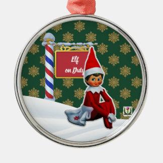 F-D Elf op de Ornamenten 53086B30 van Kerstmis van